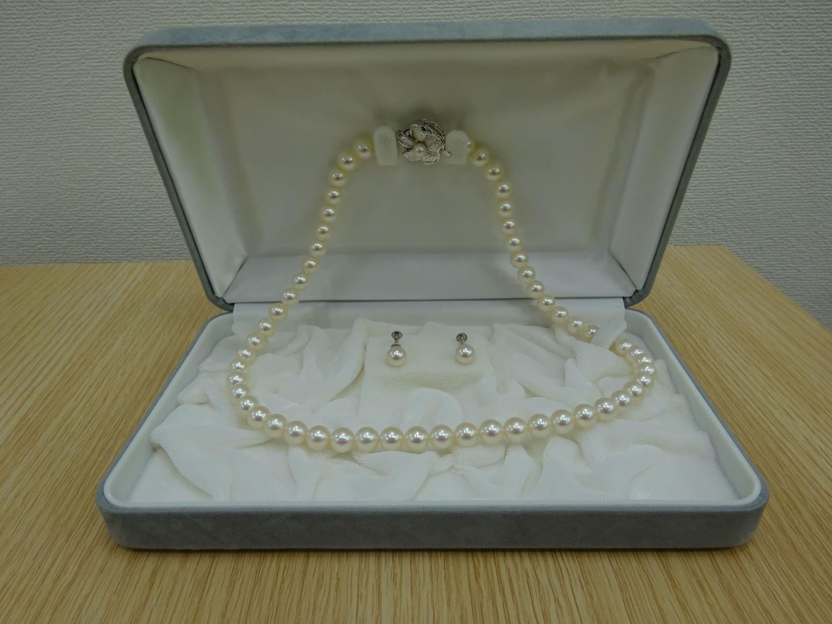 K14WGパール(真珠)&イヤリングセット