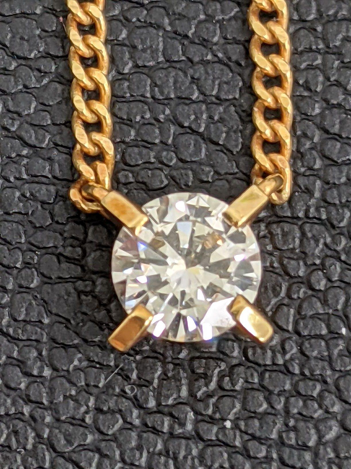 K18 0.3ct ダイヤモンドネックレス